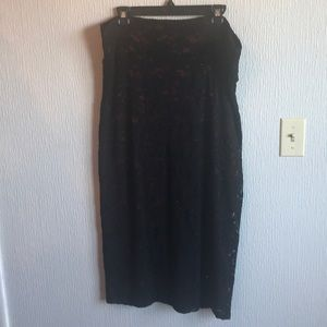 Lularoe Elegant Ivy Skirt Sz 2XL Red Black Midi